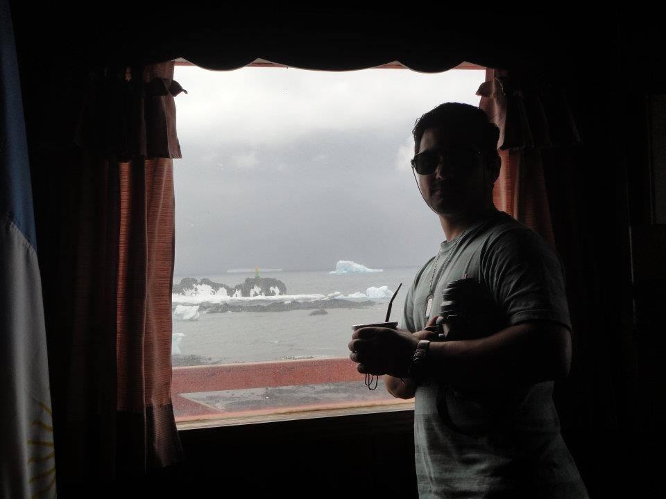 Maximiliano en la Antártida